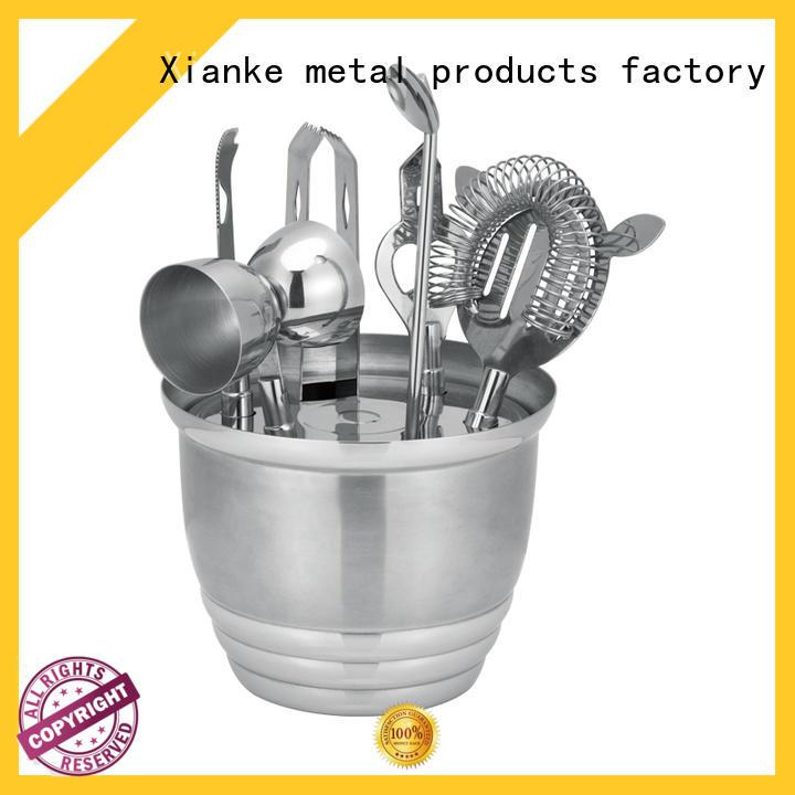 popular personalized cocktail shaker set bulk order Xianke