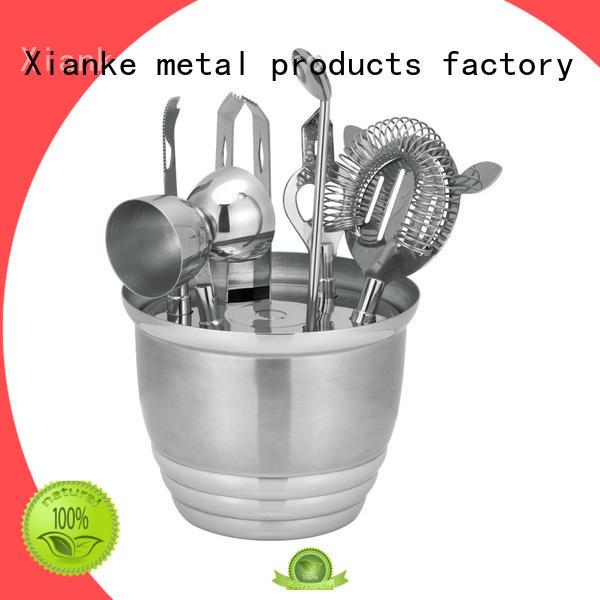 shaker Custom finish stainless steel cocktail set black Xianke