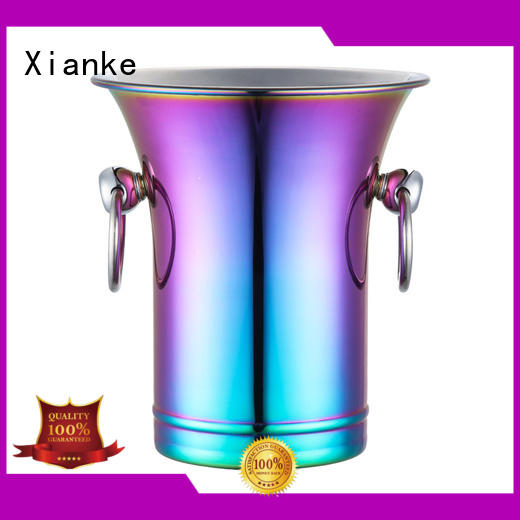 highly-rated hammered stainless steel ice bucket sloped for wine Xianke