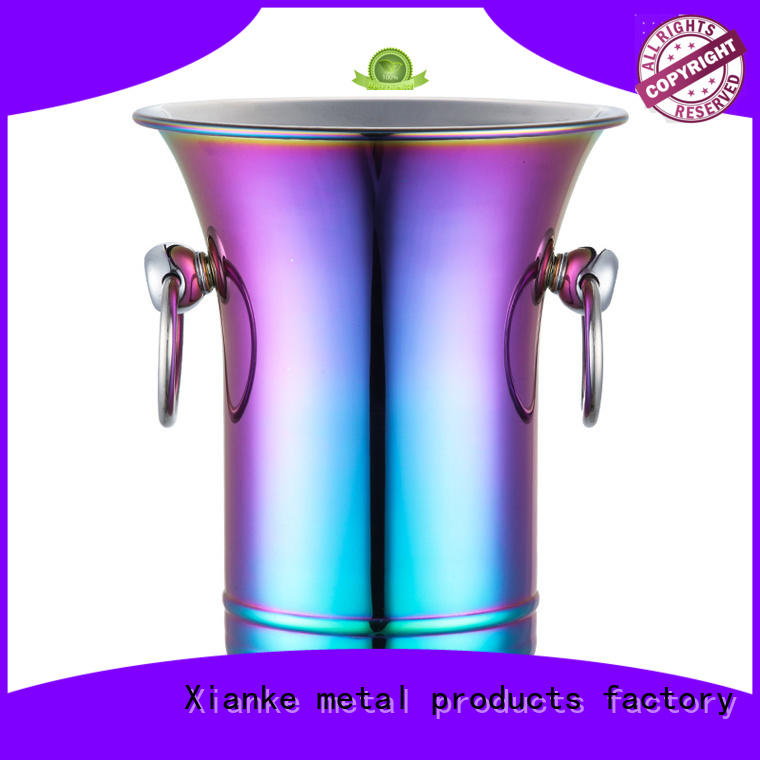 oval stainless ice bucket highly-rated with lid for club