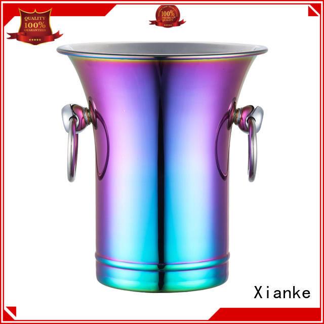 stainless steel ice bucket steel high quality side for wine