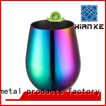 Xianke high quality cheap stainless steel tumblers glass for beer