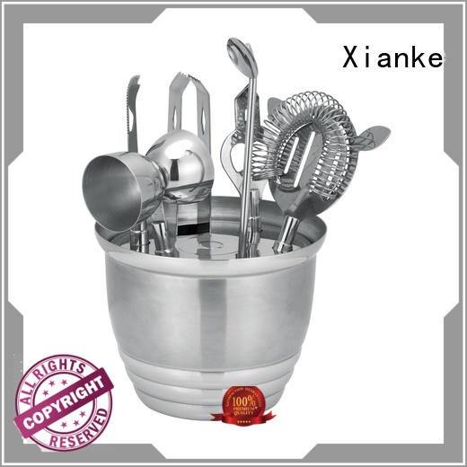 Xianke universal cocktail shaker bar mixer set finish