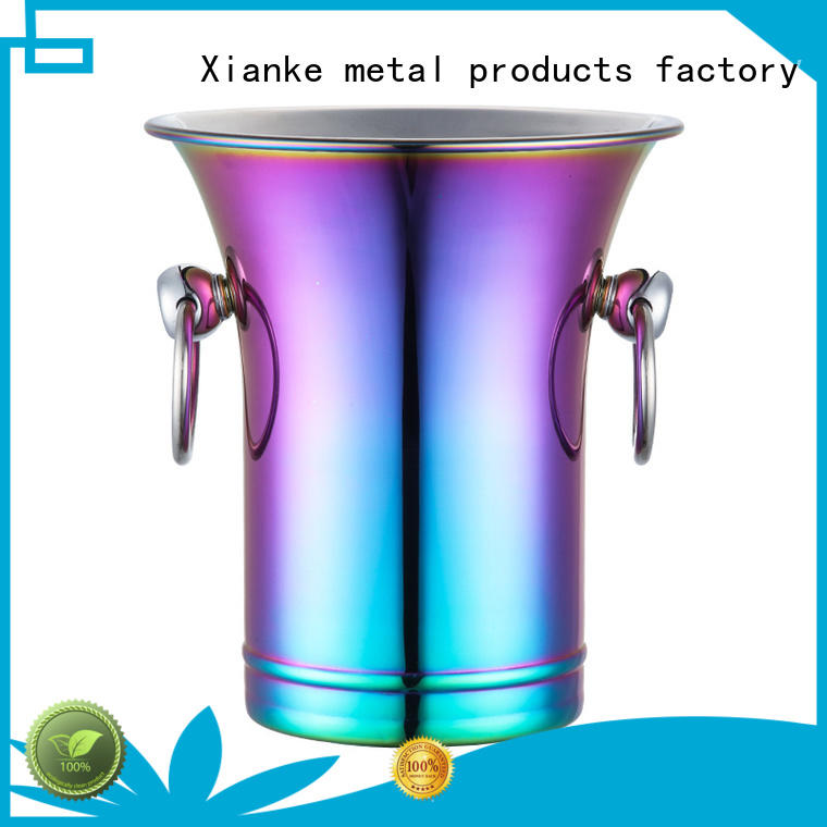 Quality Xianke Brand ice lid stainless steel ice bucket