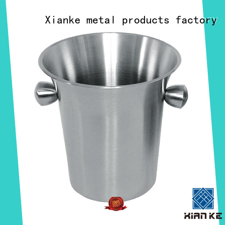 shaped double wall stainless steel ice bucket carry for restaurant Xianke