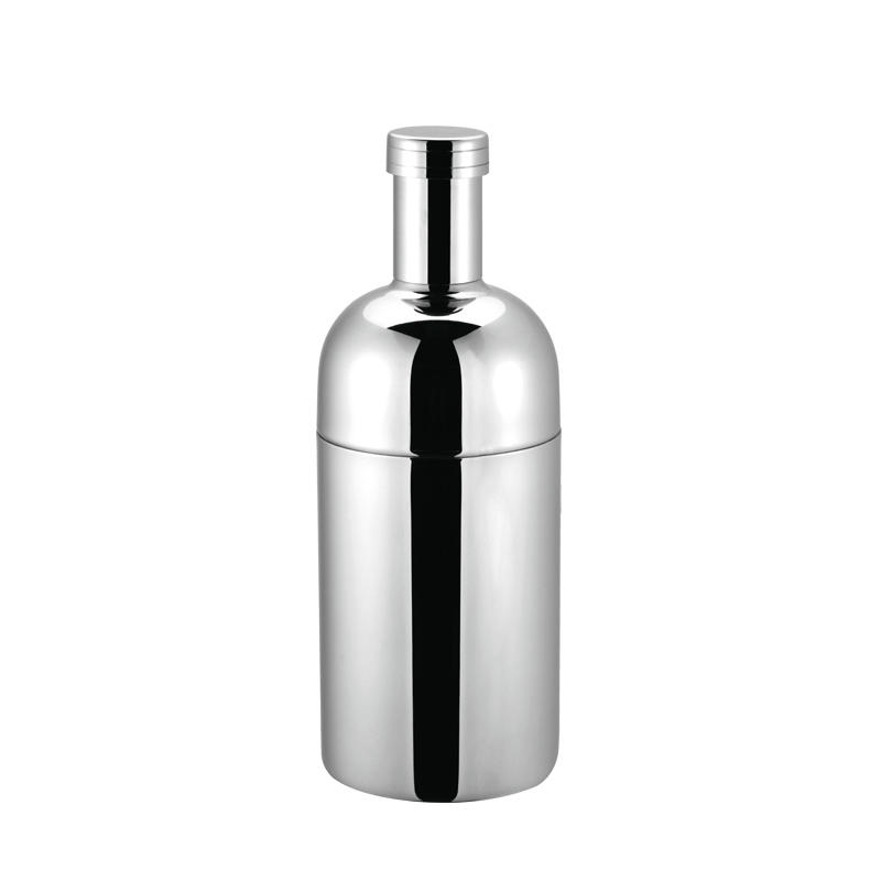 Stainless steel vodka martini shaker with 300ml, 500ml, 700ml, 1000ml 3-piece bottle design