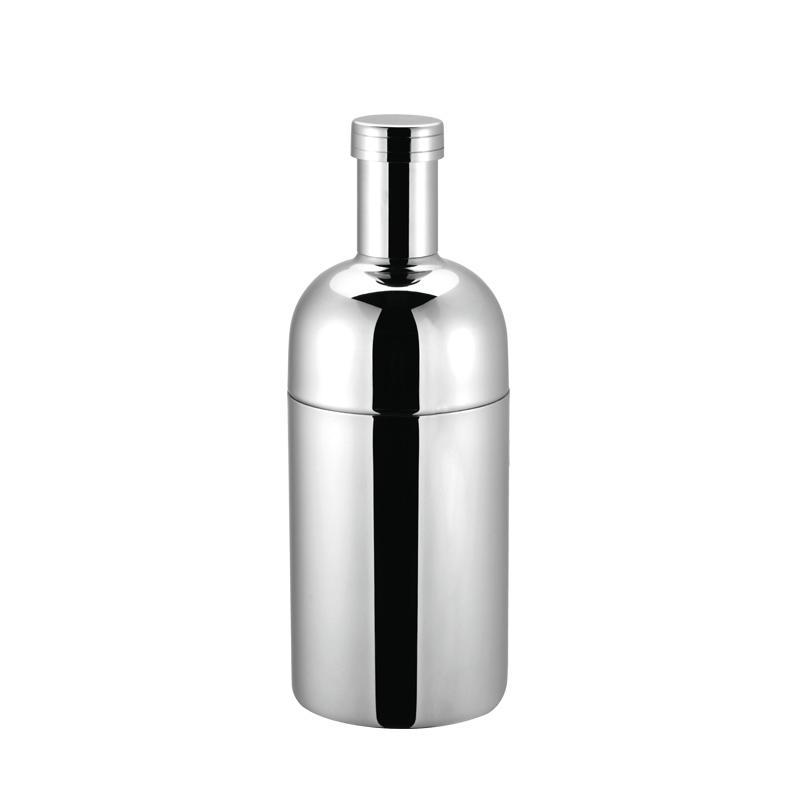 Stainless steel vodka martini shaker with 300ml, 500ml, 700ml, 1000ml 3-piece bottle design