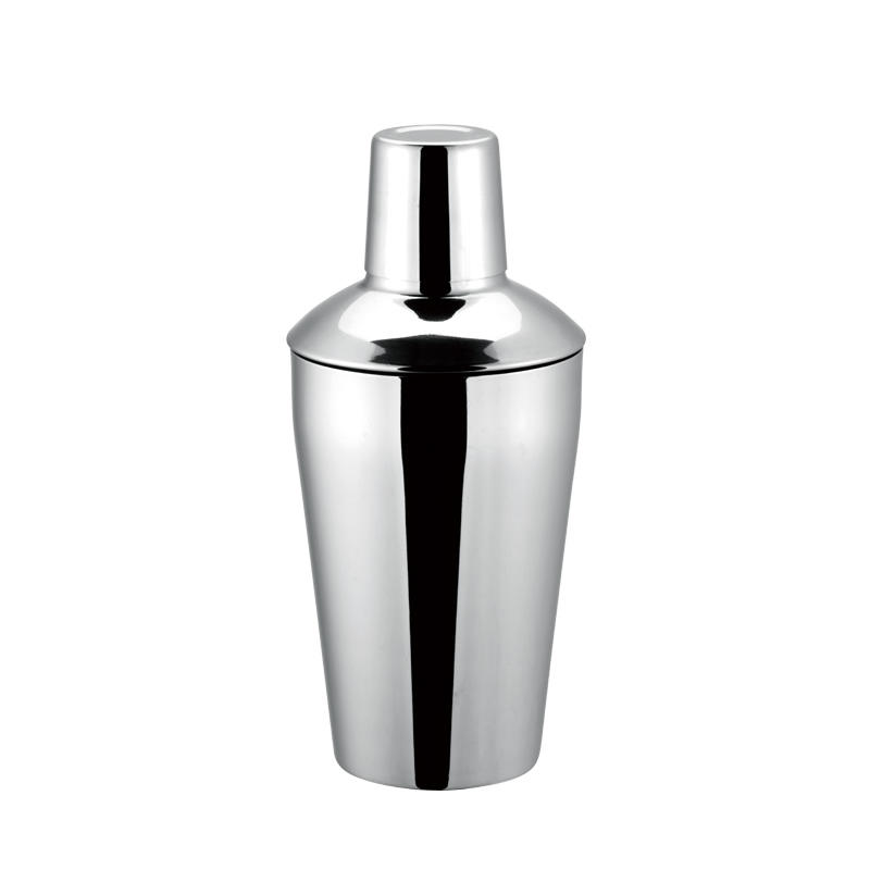 Stainless steel boston shaker with 350ml, 500ml, 700ml, 1000ml classic 3-piece design