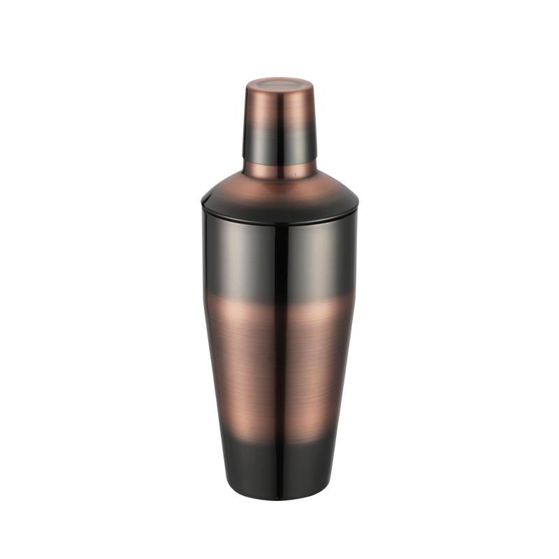 Stainless steel boston shaker with 350ml, 500ml, 700ml, 1000ml classic 3-piece design