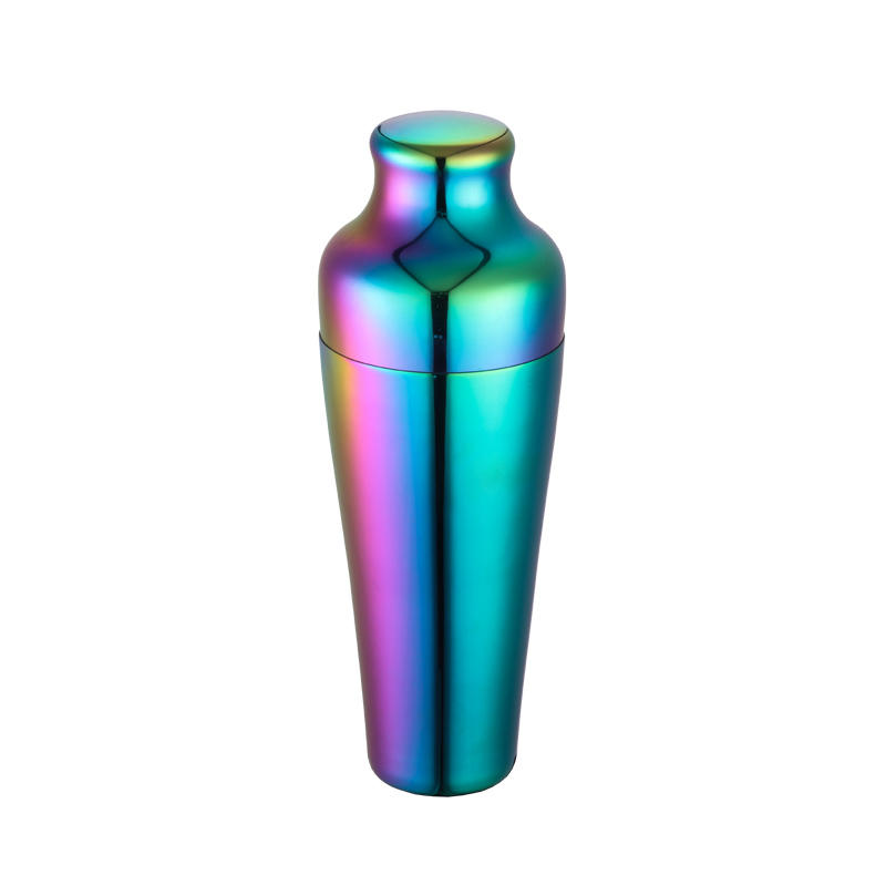 Stainless steel cocktail shaker with 750ml 2-piece design