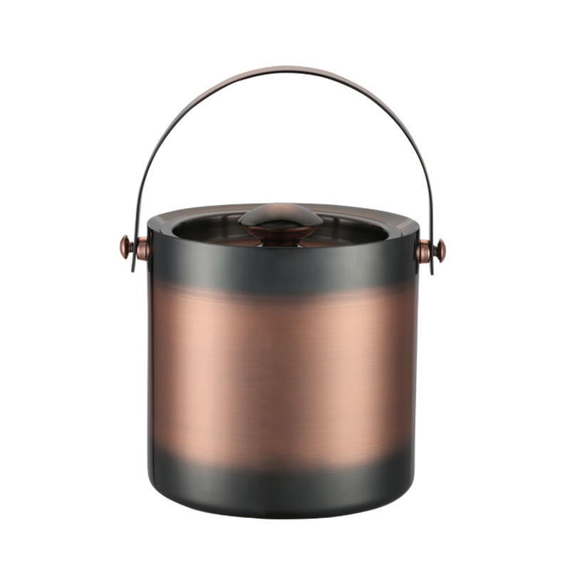 Stainless steel ice bucket with double walled design in 3L,2L,1.3L