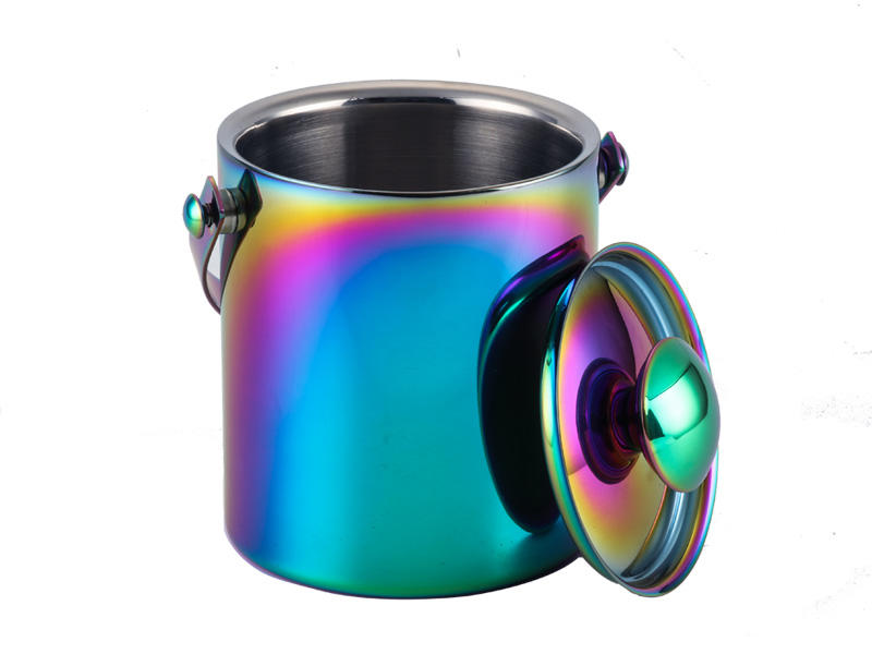 double walled stainless steel wine cooler bucket horn mouth for restaurant
