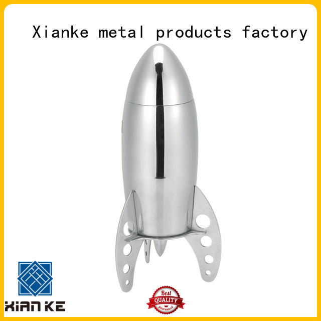 Xianke cheapest stainless steel drink shaker novelty for cocktail