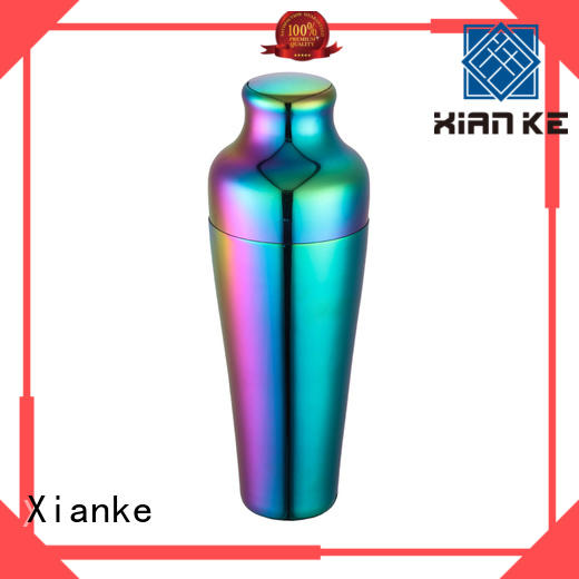 top selling rainbow shaker glass for boston Xianke