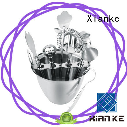 mini cocktail shaker set mixing stainless steel cocktail set Xianke Brand