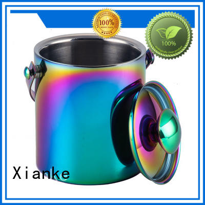 Xianke large capacity stainless steel insulated ice bucket durable for wine