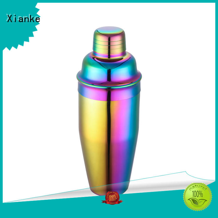 Xianke factory price steel cocktail shaker bottle for wholesale