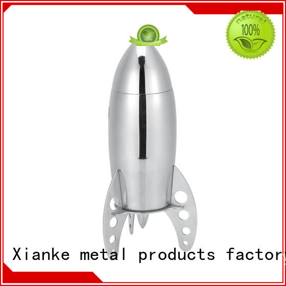 Xianke factory price cocktail shaker martini rocket for wholesale