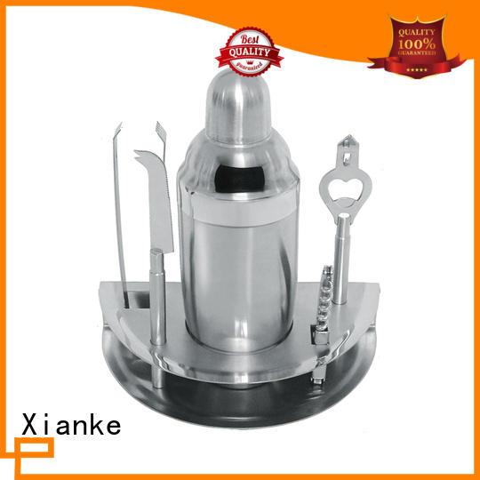 Xianke steel stainless steel cocktail shaker set gun shaker