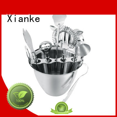 Xianke custom stainless steel shaker set set for bartender