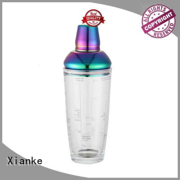 Xianke bulk order stainless steel drink shaker glass for cocktail