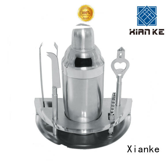 Xianke vintage stainless steel cocktail set mixing for club