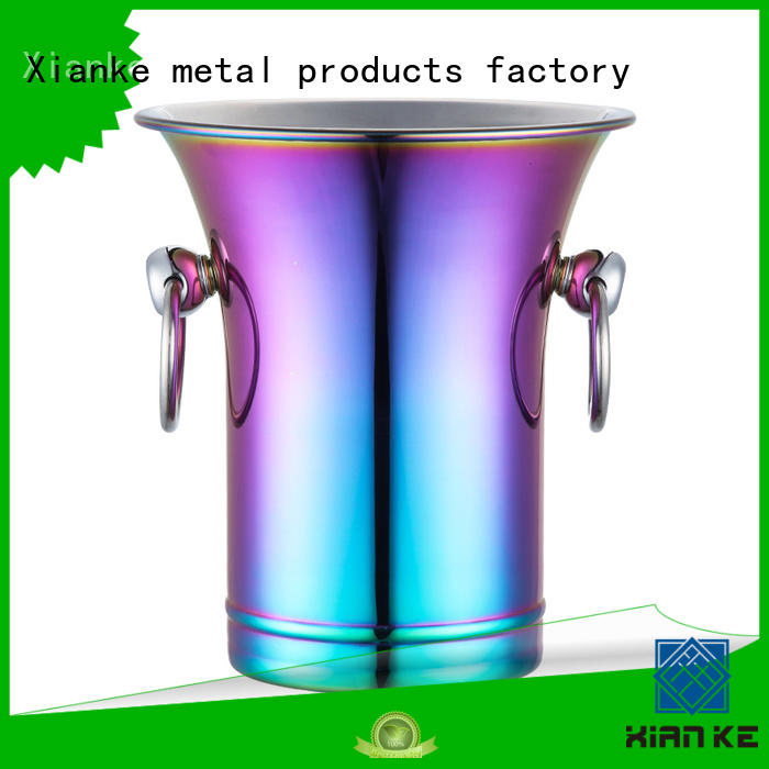 Xianke durable personalized metal ice bucket side for wine