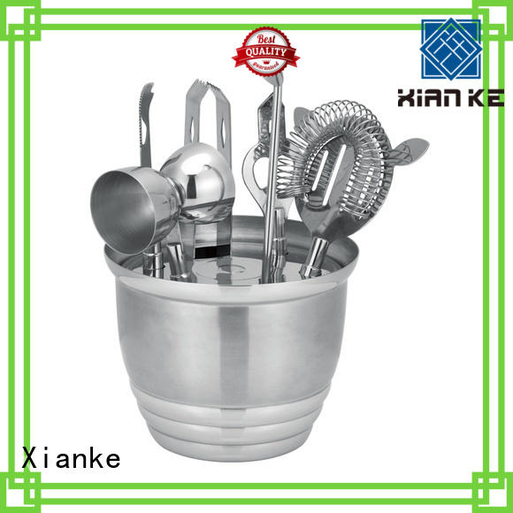 Xianke top brand stainless steel bar set for wholesale