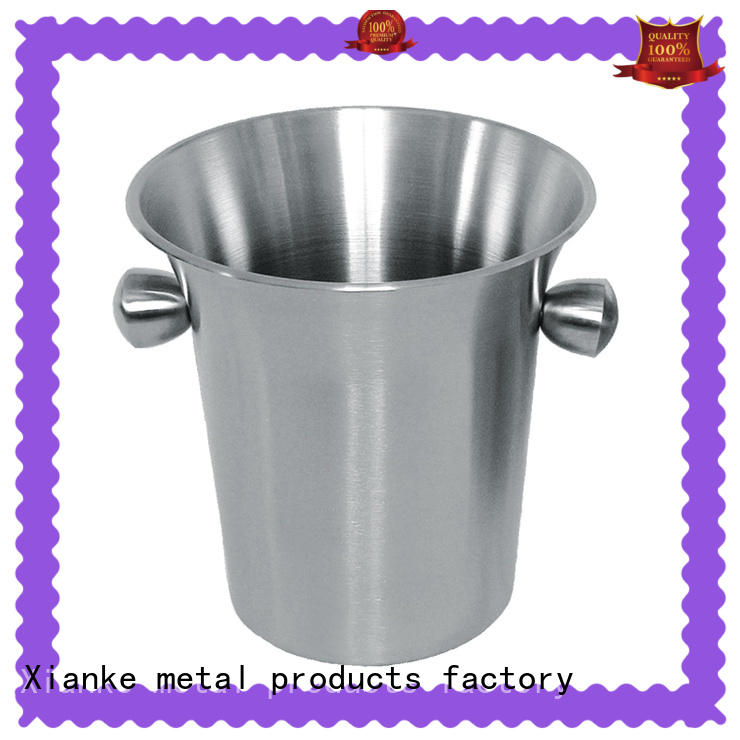 Xianke double walled hotel ice bucket wholesalers with handles for gathering