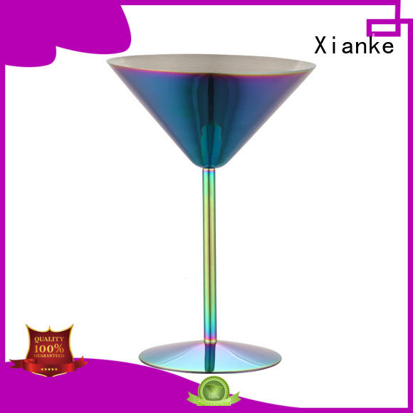 high quality wine tumbler design for martini Xianke