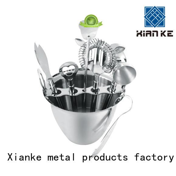 Xianke custom stainless steel bar set black for sale