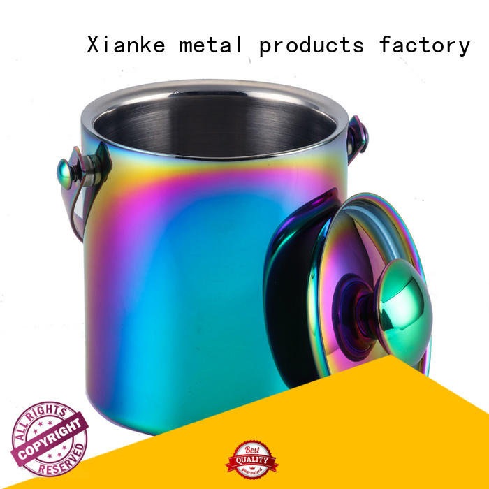 Xianke high quality stainless steel ice bucket zinc alloy for wine