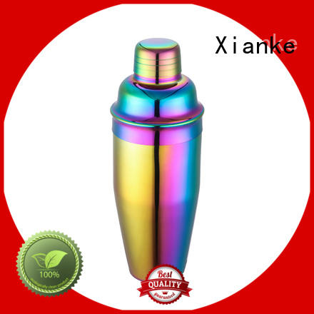 Xianke stainless steel shaker steel bottle for vodka