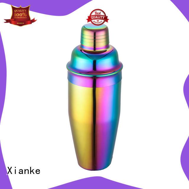 Xianke stainless steel steel shaker bottle for martini