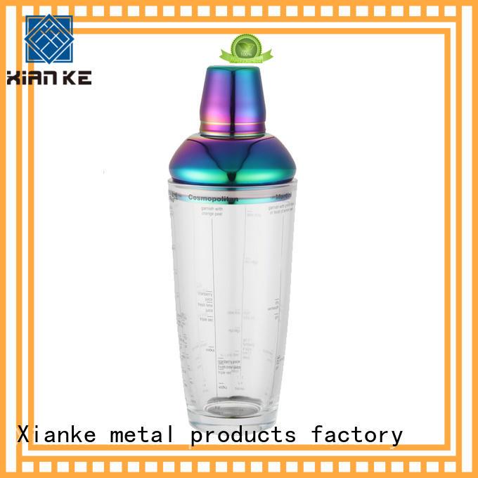 custom stainless drink shaker glass for vodka Xianke