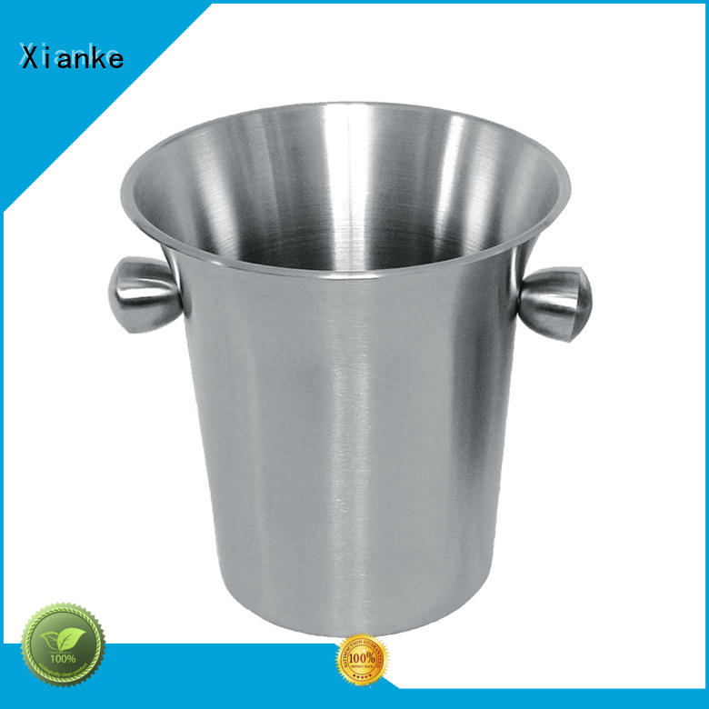 Xianke double walled ice bucket double wall handle for wine