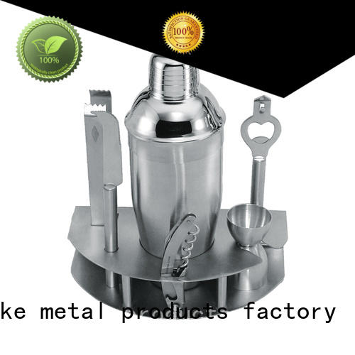 stainless steel bar set cocktail shaker top brand black for club