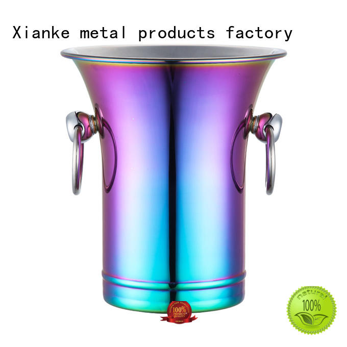 Xianke stainless steel stainless wine cooler buckets zinc alloy for gathering