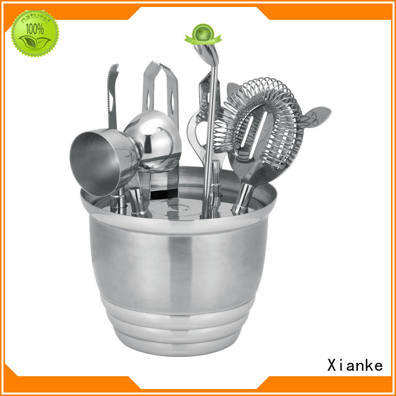 Xianke top brand stainless steel shaker set black for club