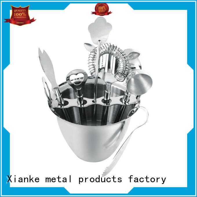 Xianke stainless steel wine tool set bar ware
