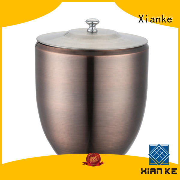 Xianke durable personalized metal ice bucket sloped for restaurant