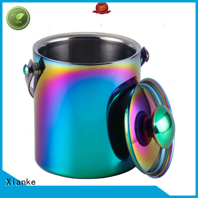 shaped stainless steel ice bucket high quality ball for gathering