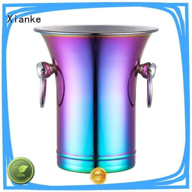 Xianke large capacity personalised metal ice bucket bottle for club