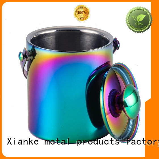 Xianke durable stainless steel champagne bucket with stand loop for party