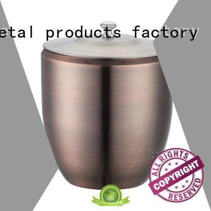 Xianke oval double wall stainless steel ice bucket zincalloy club