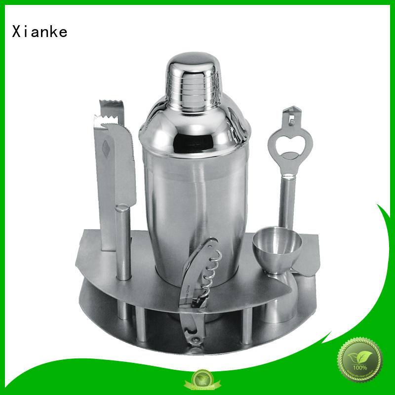 stainless steel personalized cocktail shaker set universal black for sale