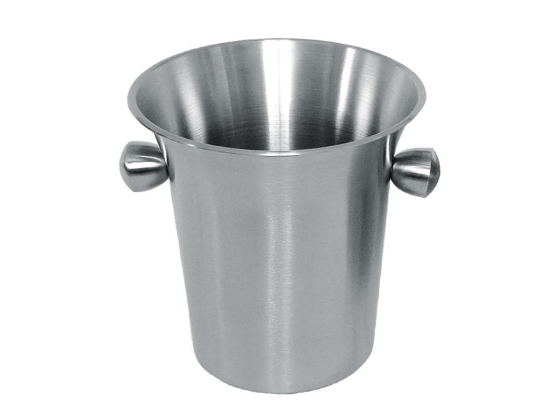 Stainless steel wine ice bucket with horn mouth and side handles in 3.5L design-3