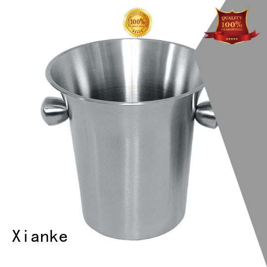 Xianke high quality personalised metal ice bucket with lid for gathering
