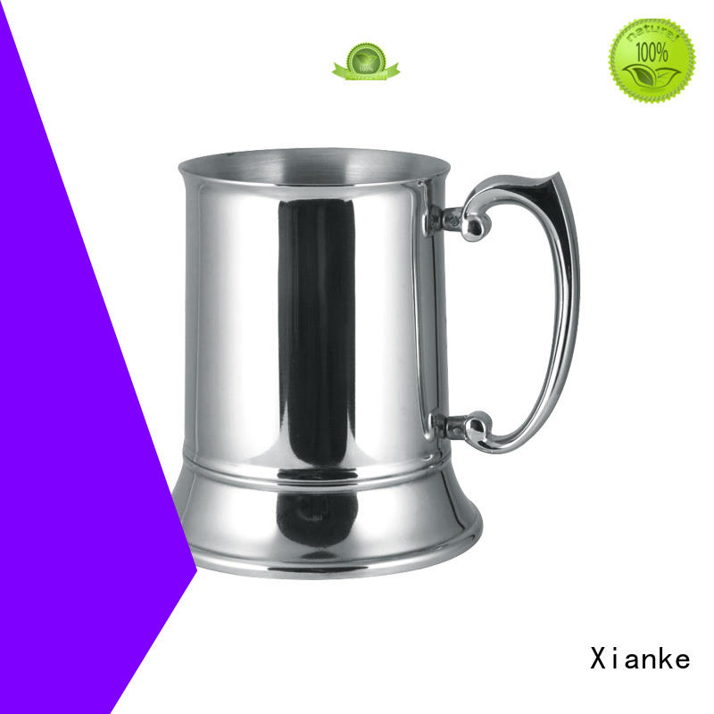 Xianke stainless stemless wine glass zinc alloy for martini
