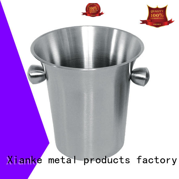 Xianke large capacity wine ice bucket stainless steel zinc alloy for wine